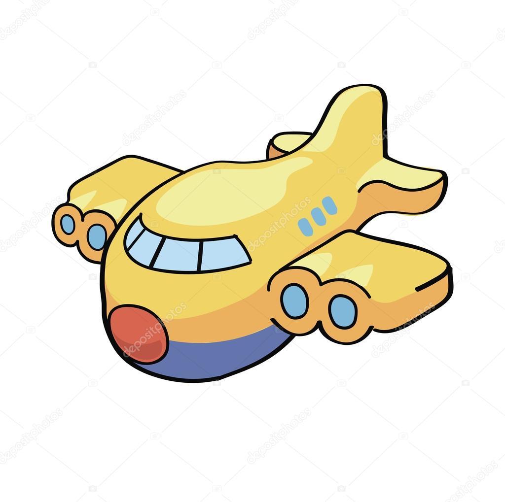 かわいい漫画の飛行機のベクトル イラスト ストックベクター
