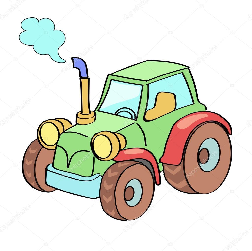 Traktor Cartoon Farbig Stockvektor Lightkite 57891473