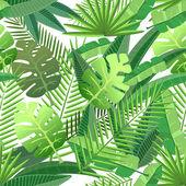 Tropické listy bezešvé vzor
