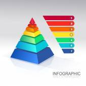 Photo Pyramid infographic  colorful  .