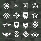 Fotografia Forze speciali icone e loghi simbolo militare