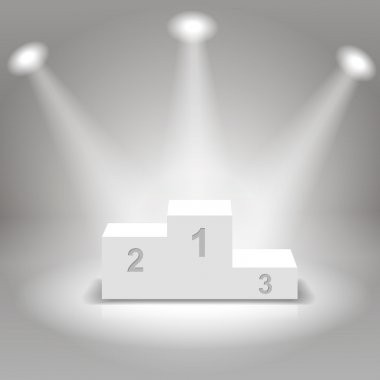White  business winners podium vector illustration