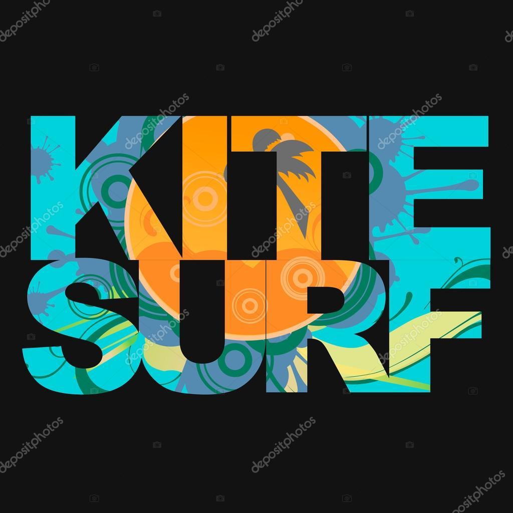 Surfer typography, t-shirt graphics, vectors