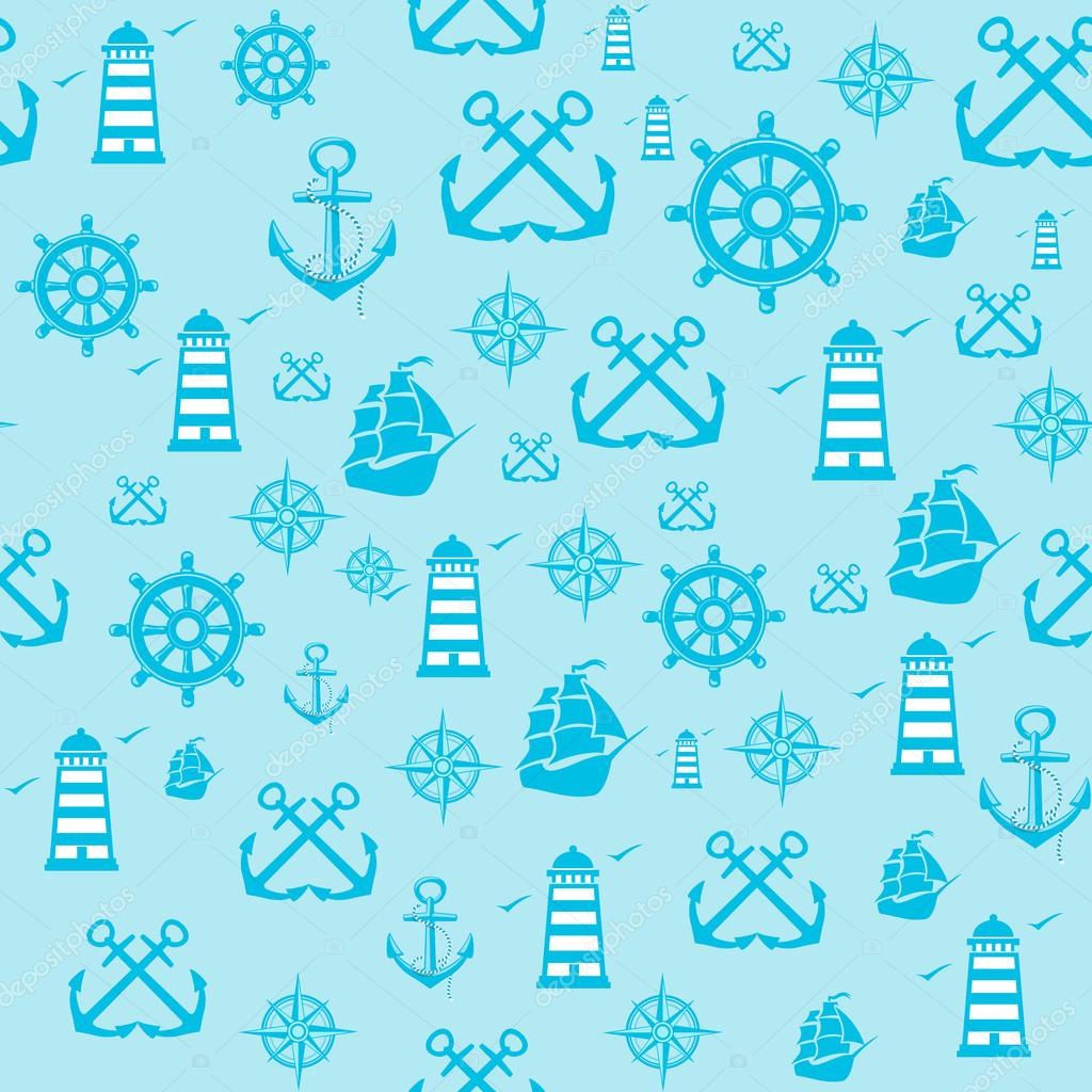 sample Pattern Seamless with Marine elements.