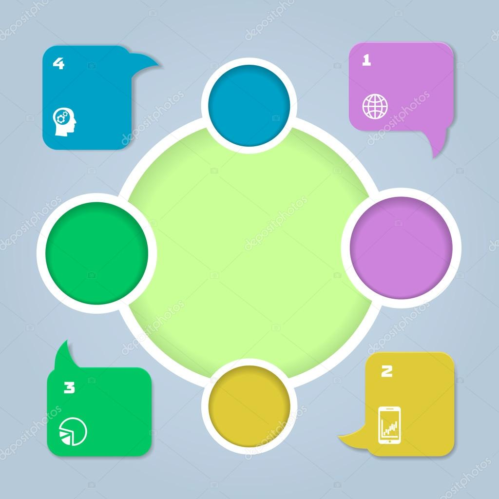 circle color infographic. Template for diagram or graph ...