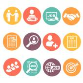 Photo Vector job hunting,  search, human resources icons set