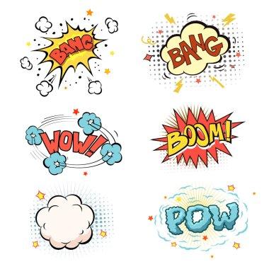 Boom. Comic book explosion set