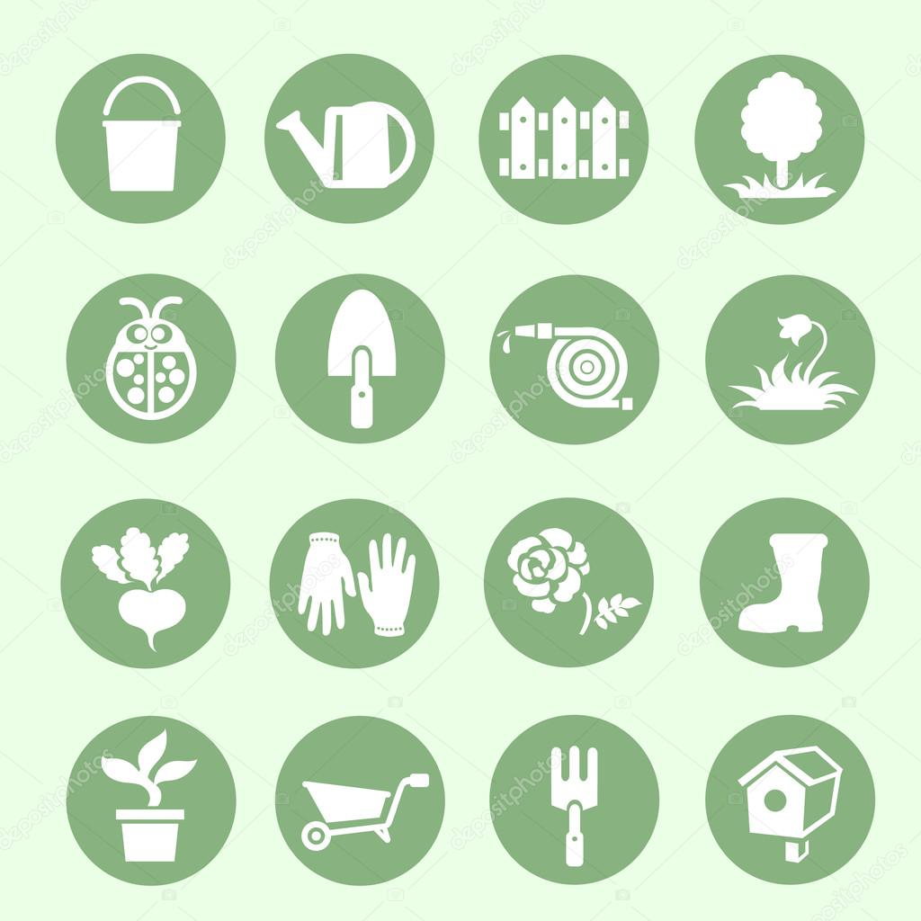 Garden icons  Vector illustration