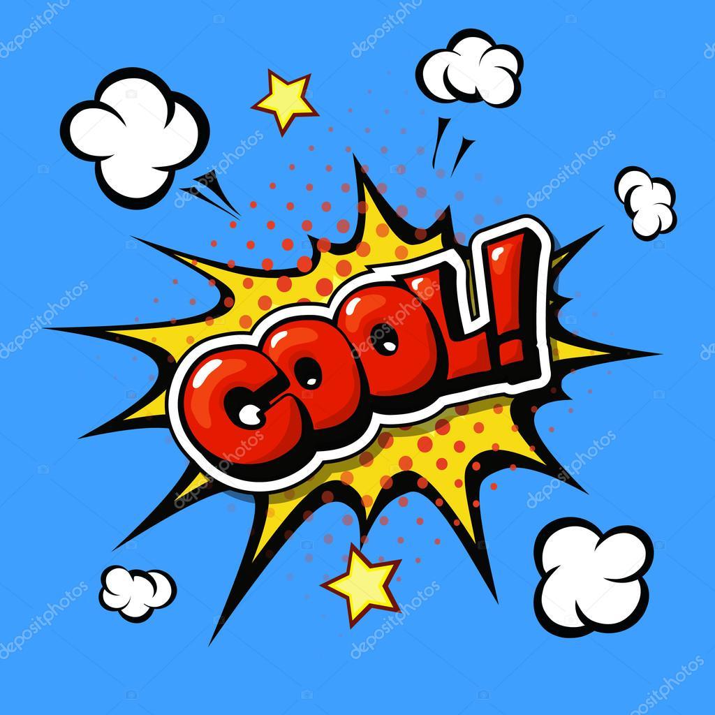 Cool Comic Sprechblase Cartoon Stockvektor Lightkite 92974048