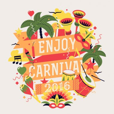 Beautiful celebration party carnival design