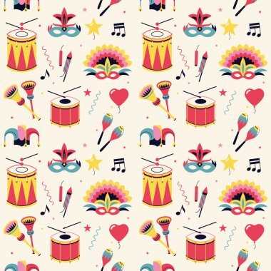 Nice carnival celebration party pattern