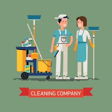 Cleaning company concept design.