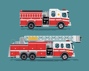 Firefighters emergency vehicles.