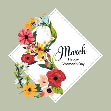 Retro looking International Women's Day