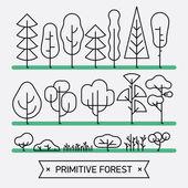 lesní platky, stromy