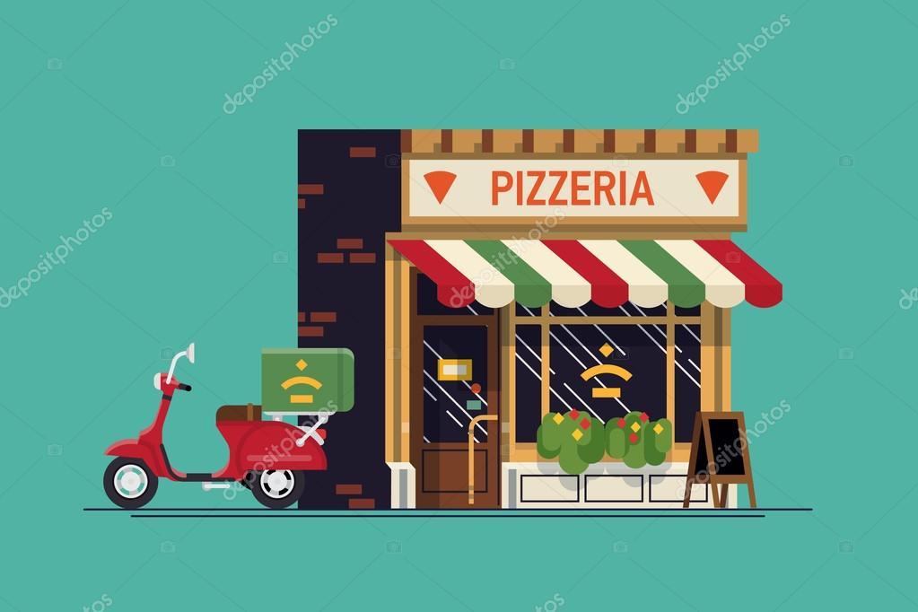 Restaurante De Comida Italiana Hermosa