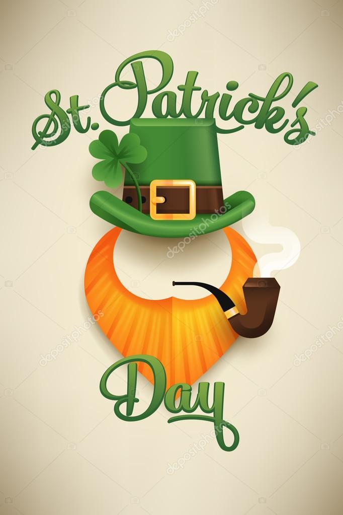 Cartel de día de Saint Patrick — Vector de stock © masha_tace #102843856