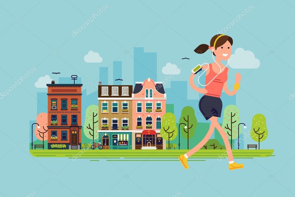 fitness workout running woman