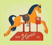 Koně na mince kiddie ride