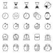 Fotografie Sammlung von Zeitsymbolen