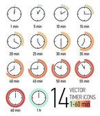 Fotografie Reihe von Timer-Symbolen