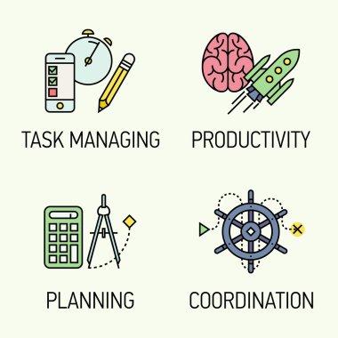 Management concept design elements.