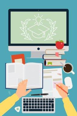 Online graduation process.