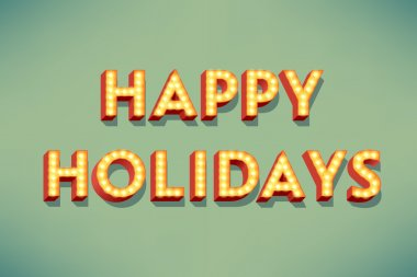 Happy holidays design
