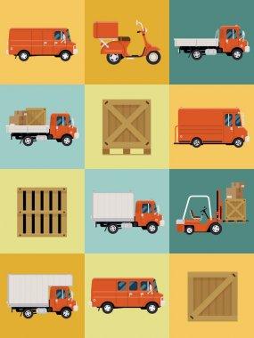 Fleet vehicles icons