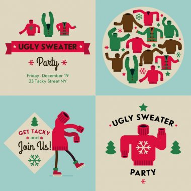 Tacky sweater party invitation