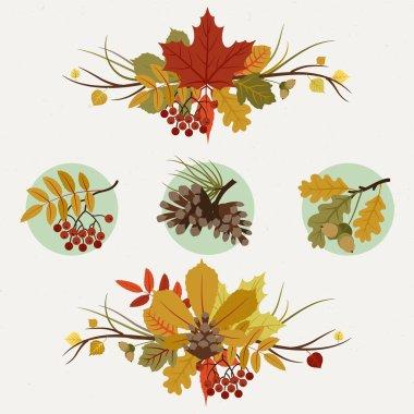 Autumn decoration elements.