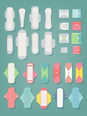 Sanitary pads icons
