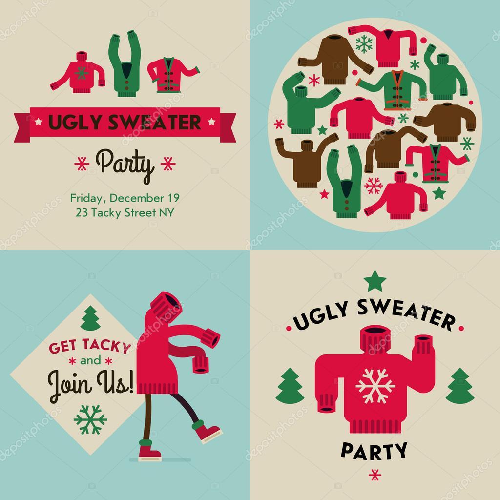 Tacky sweater party invitation — Stock Vector © masha_tace #60824719