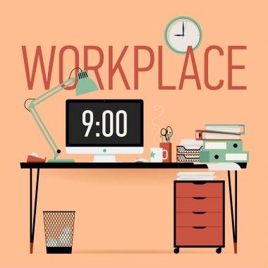 Workplace - office work desk