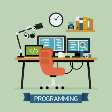 Creative illustration on programming