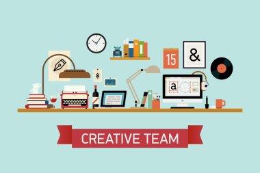 Creative team  workspace