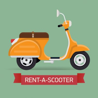 Scooter hire company banner
