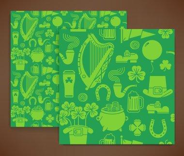 Seamless pattern on Saint Patrick's Day