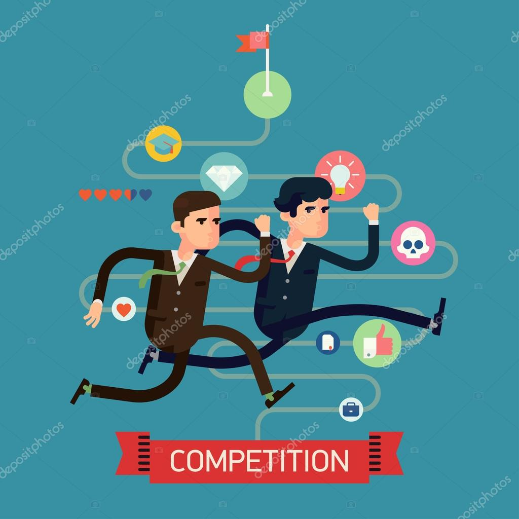 Businessmen competition run