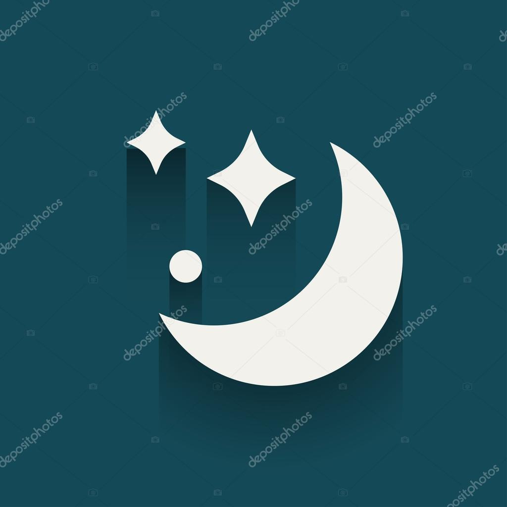 Moon and shining stars