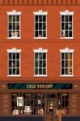 Fotografie Backsteingebäude mit Buch-shop