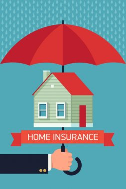 Home insurance with umbrella.