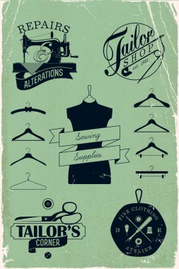 Vintage hangers silhouettes