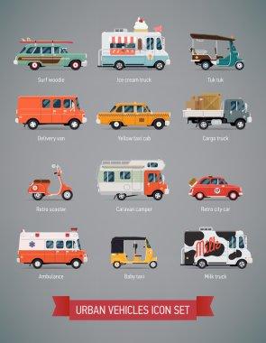 Various urban and city cars