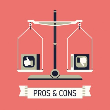 Pros and cons with balance scales