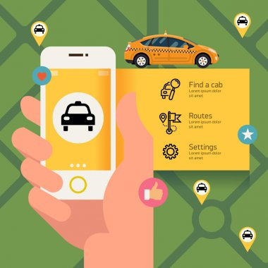 Phone with taxi hire service