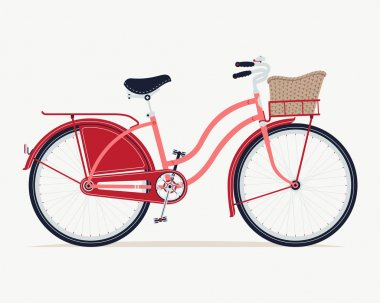 Retro ride with vintage bicycle