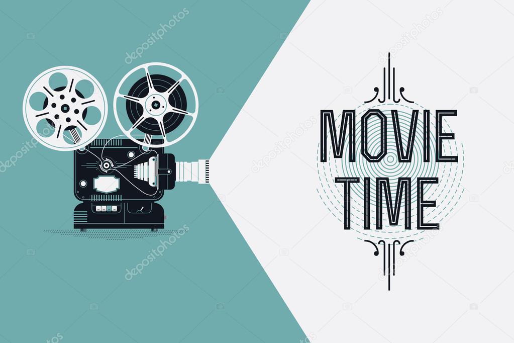 Cool retro movie projector