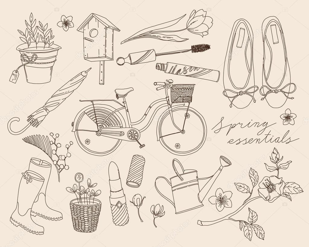 Spring season girly cute items