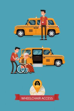taxi with wheelchair access